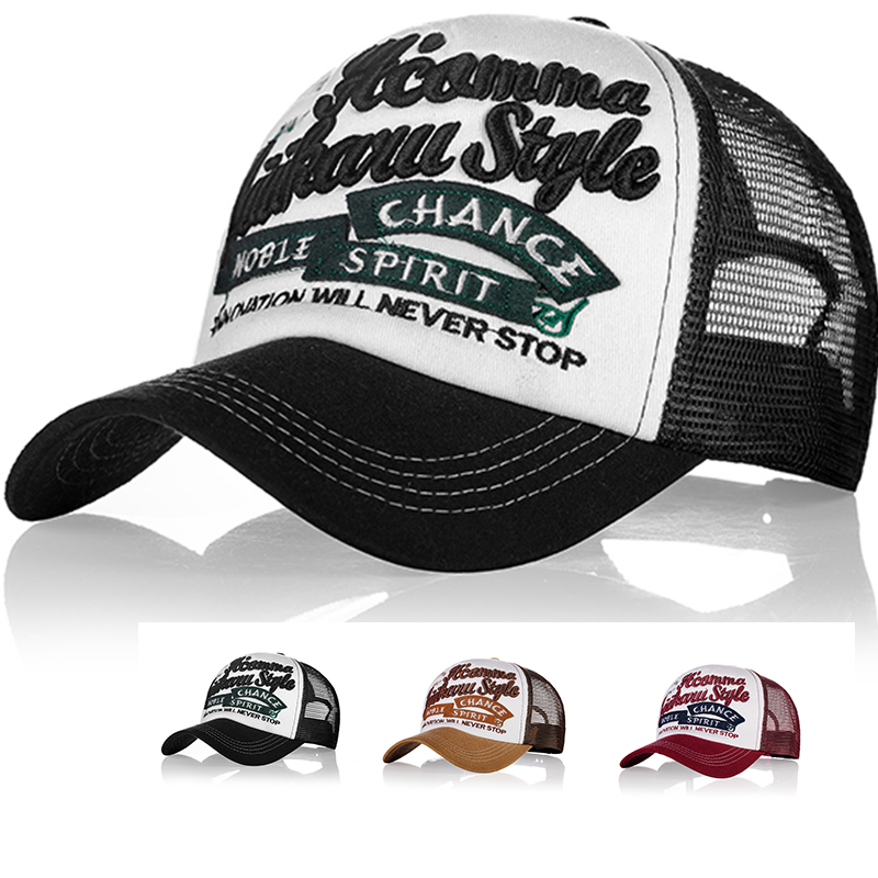 Summer Baseball Cap Men Women Embroidery Mesh Caps Snapback Hats Hip Hop Solid Casual Bone Dad Hat Casquette Adjustable Gorras