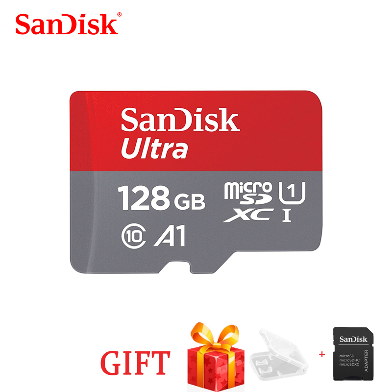 SanDisk100% A1SDSQUNC Memory Card 16GB 32gb 64GB 128GB Adapter Micro Sd Card Class10 UHS-1 Flash Card Memory Microsd TF/SD Card