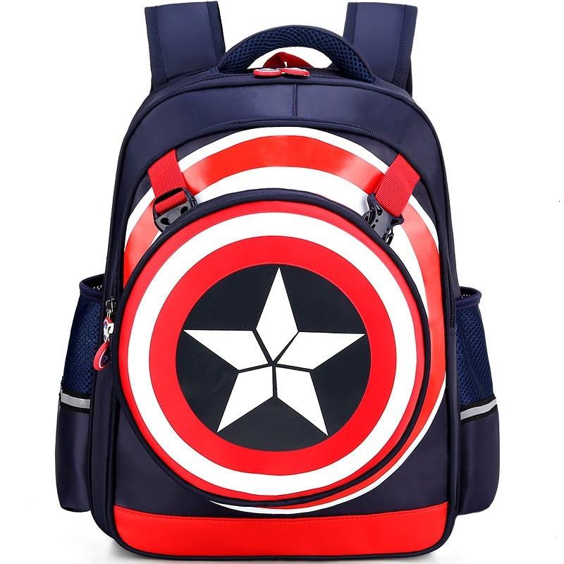 2019 New 3D Solid Superhero Spiderman Girl Boy Children Primary School Bag Bagpack Schoolbags Kids Teenagers Student Backpacks