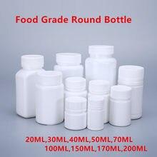 Frascos de Medicamentos De plástico vazio com tampa de rosca Recipiente Pílula Tablet 20ML,30ML,40ML,50ML,70ML,100ML,150ML,170ML,200ML