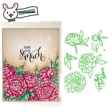 Naifumodo 2019 New Clear Stamps Scrapbooking  Flower Alphabet Stamp Embossing Craft Silicone Transparent