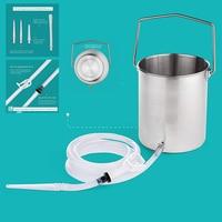 Modun 2000ml Steel Enemas Bucket Kits Anal Shower Kit Enema Anus Washing Anal Douche Enema Coffee Water Anal Douching Shower