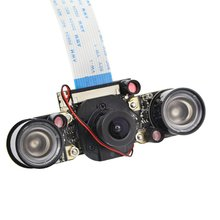 For Raspberry Pi 3 Night Vision Fisheye Camera 5MP OV5647 130 Degree Focal Adjustable Camera for Raspberry Pi 3 Model B Plus
