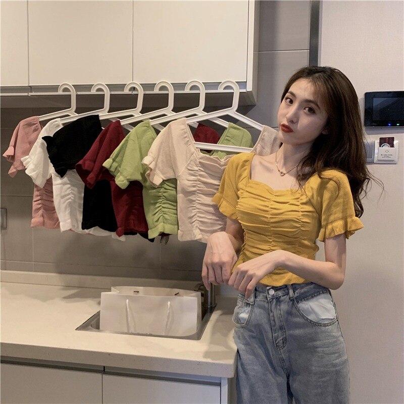 YAMDI Korean Solid Sweater Female Woman Slim Elastic Autumn Winter Jumper Turtleneck Collar Sweater Women Pulliver Office Lady