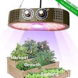 1100 Вт COB светодиодный свет для выращивания растений в помещении полный спектр для внутреннего парник, теплица для выращивания растений 1000 В...