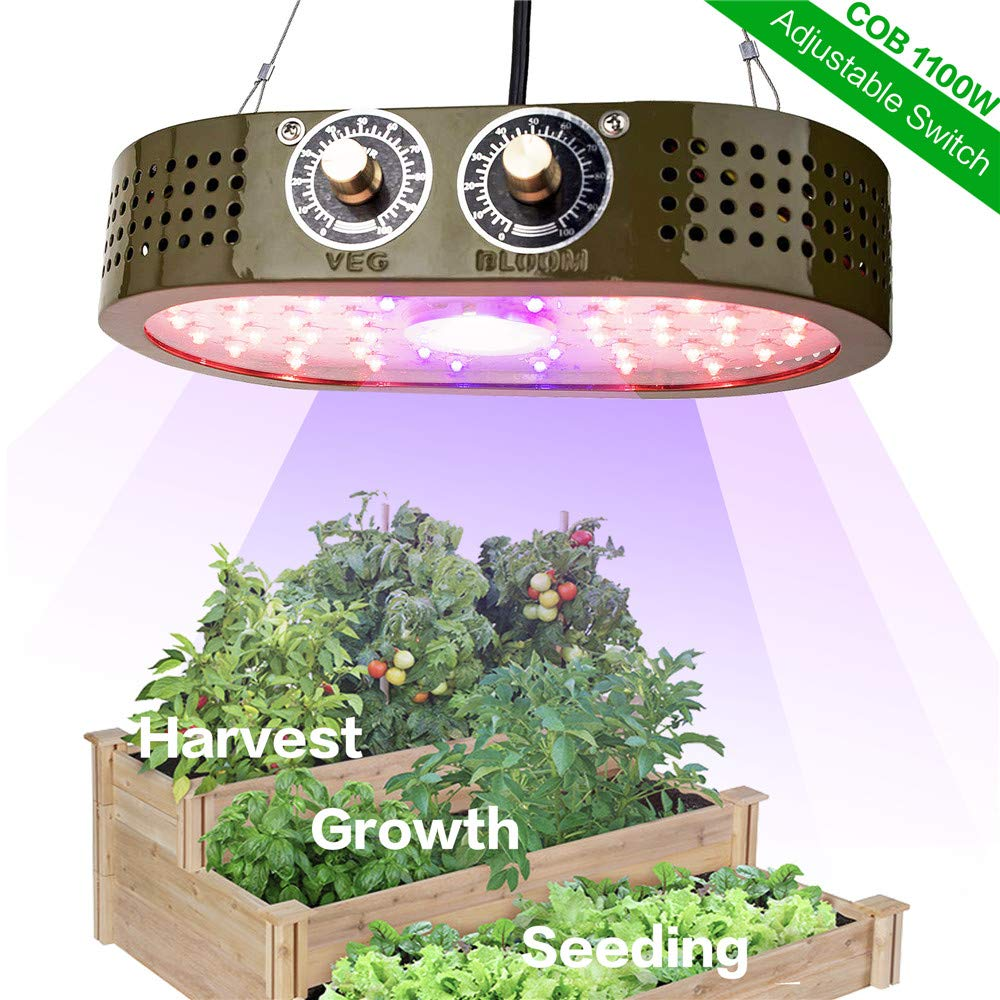 1100W COB LED Grow Light For Indoor Plants Full Spectrum For Greenhouse Grow Tent Plants 1000W Grow Led Night Light фитолампа