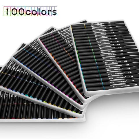 48 60 72 100 canetas da cor