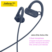 Jabra Elite Active 45e Bluetooth IP67 protection Bluetooth 5.0 Sports Earphone Music Headphone Dual microphone noise reduction