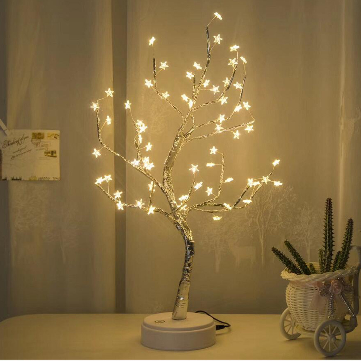 Original ALIWARM White LED With 60 White Star Table Lamp For Home Decoration Wedding Bedroom Dropshipping 20