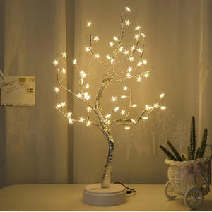 Table-Lamp Bedroom Home-Decoration Original Star Wedding White LED with 60 for ALIWARM