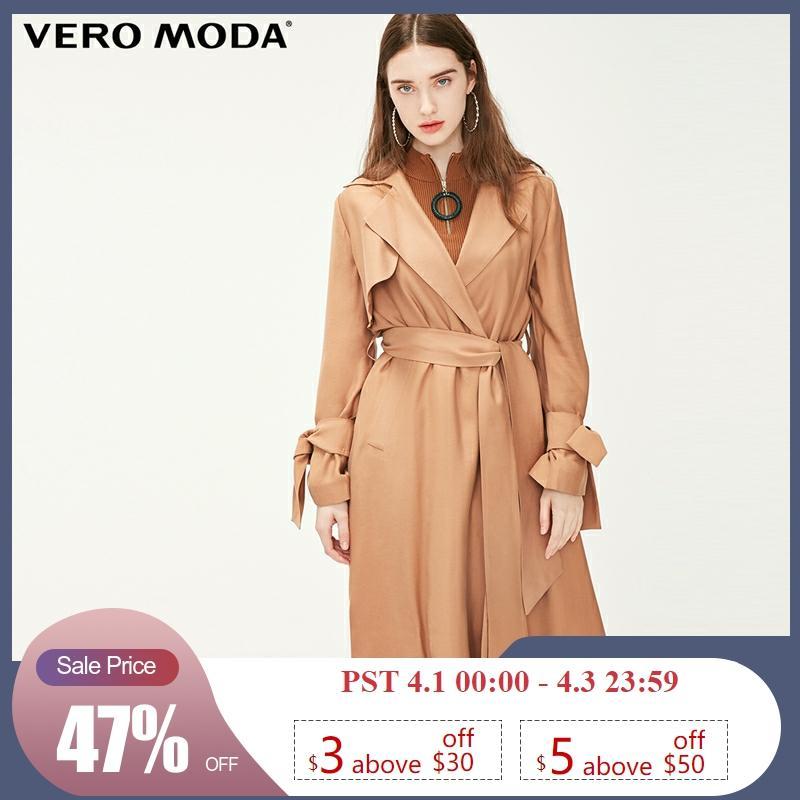 Vero Moda Women's OL Style Long Lapel Minimalist Trench Coat | 319121523