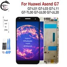 "5,5 ""LCD Mit Rahmen Für Huawei Ascend G7 G7 L01 G7 L03 G7 UL20 G7 L11 LCD Display Bildschirm Touch Sensor Digitizer Montage g7 LCD"
