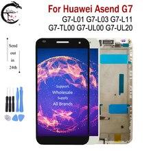 """5.5 """"LCD için çerçeve ile Huawei Ascend G7 G7 L01 G7 L03 G7 UL20 G7 L11 LCD ekran ekran dokunmatik sensör sayısallaştırıcı meclisi G7 LCD"""
