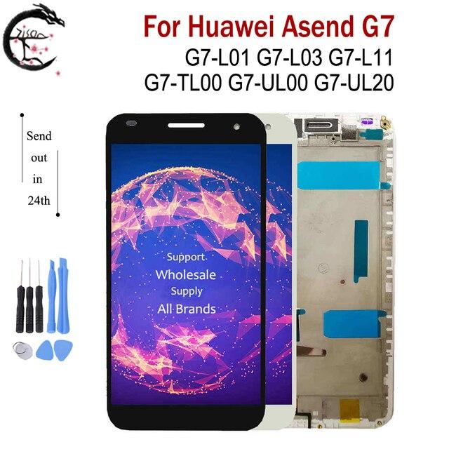"""Màn Hình LCD 5.5 """"Với Khung Cho Huawei Ascend G7 G7 L01 G7 L03 G7 UL20 G7 L11 Màn Hình LCD Hiển Thị Màn Hình Cảm Ứng Cảm Biến Bộ Số Hóa g7 Màn Hình LCD"""
