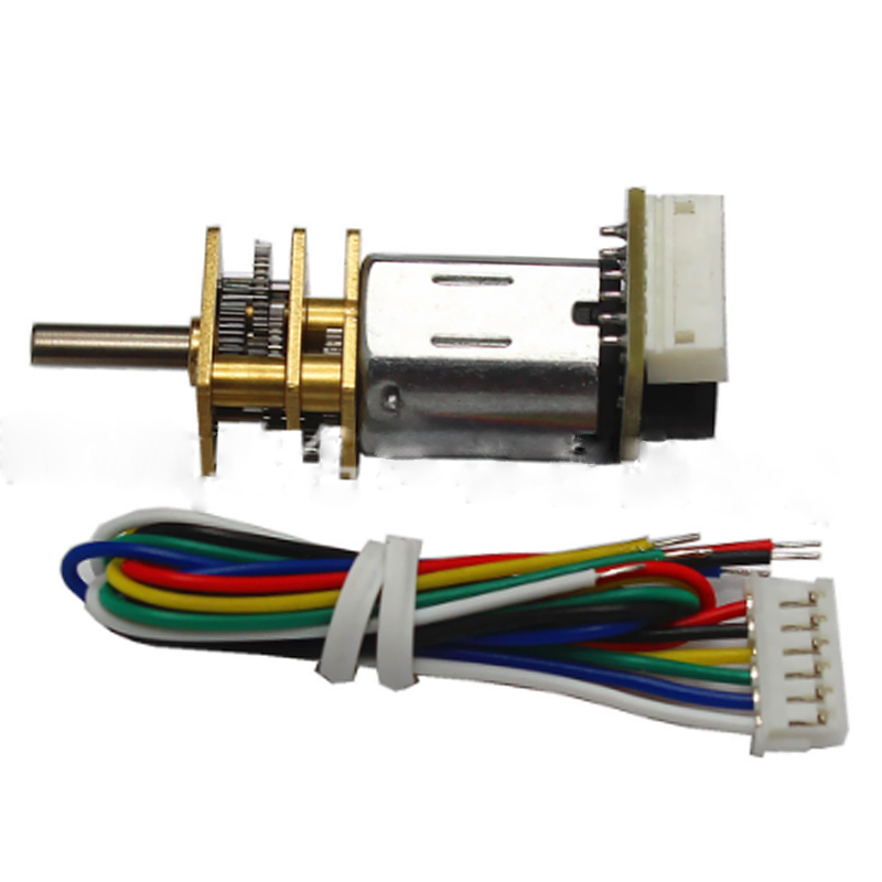 uxcell N20 6V 600RPM Micro Gear Motor with Rubber Wheel for DIY Robot Smart Car