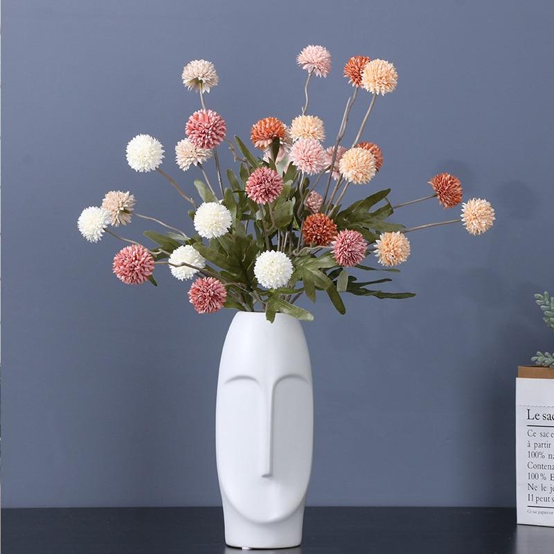 Искусственный Одуванчик с 5 головками, искусственный цветок, мини-Одуванчик, искусственный цветок, украшение для дома, свадьбы, гостиной, ст...