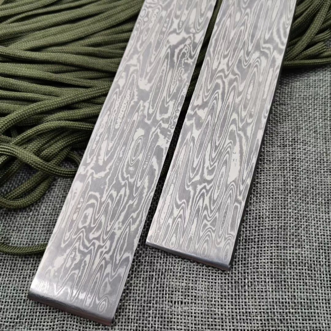 Been Steel Treatment Blank For 1piece Damascus Blade Has Sandwich Heat Pattern DIY Water Knife Making Flowing VG10 Steel Knife