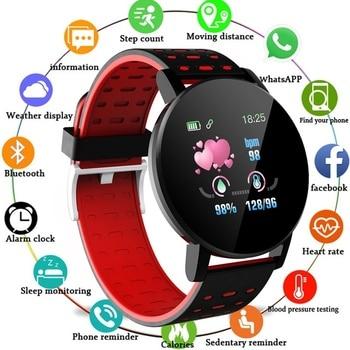 Clock IP67 Waterproof 119 Plus Smart Bracelet Heart Rate Watch Wristband Sport Watches Band Smartwatch montre homme