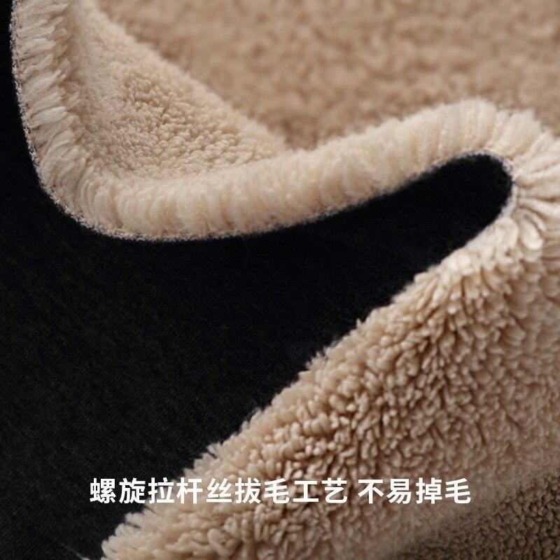 Зимние вельветовые утепленные толстовки мужские модные однотонные повседневные уличные свободные хип хоп толстовки с капюшоном мужская т... - 4