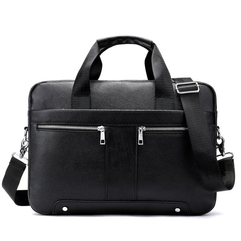 Brand Genuine Leather Men's Tote Bag Business Office Briefcase Cowhide Man Handbag Male Laptop Shoulder Bag Lawyer Computer Bag