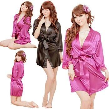 2020 Fashion Sexy Women Silk Satin Robes Kimono Robe Bridal Wedding Bridesmaid Bride Gown Bath Robe