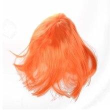 Full Fringe Short Bob Hairstyle Cosplay Orange Full Wig(China)