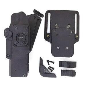 Image 5 - Arma táctica funda de caza. Compatible con pistola, se puede almacenar con (linterna XH15/XH35/X300UH B) para el usuario del lado derecho