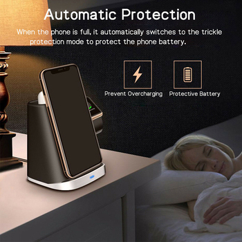 Hot Smart Durable Office Portable Compact Accessory Wireless Charger Dock Travel Fast Charging Safe Stand Qi For Apple Watch