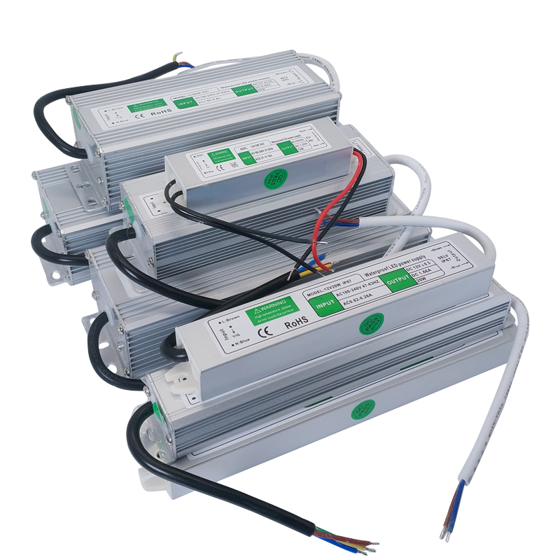DC 12V 24 V импульсный источник питания светодиодный драйвер 12 24 V Вольт IP67 наружный водонепроницаемый источник питания AC-DC 220V до 12V SMPS 10W-200W