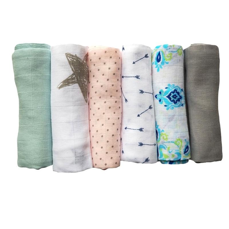 Baby Blankets Cotton Muslin Swaddle Newborn Gauze Wrap Receiving Blanket Kids Bath Towel 70*70 CM