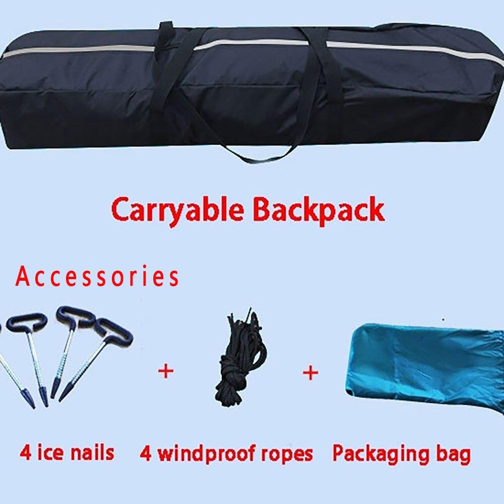 Большое пространство, для 3 4 человек, быстро открывающийся, толкающий, плюс хлопок, теплый, для улицы, зимний, для подледной рыбалки, утолщенная палатка, палатка для кемпинга, рыболовная палатка - 6