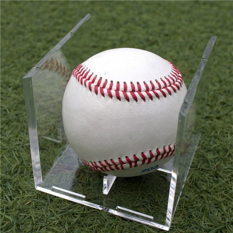 Golf Tennis Ball Transparent Case Acrylic 80mm Baseball Box Display For Souvenir Storage Box Holder UV Protection Dustproof