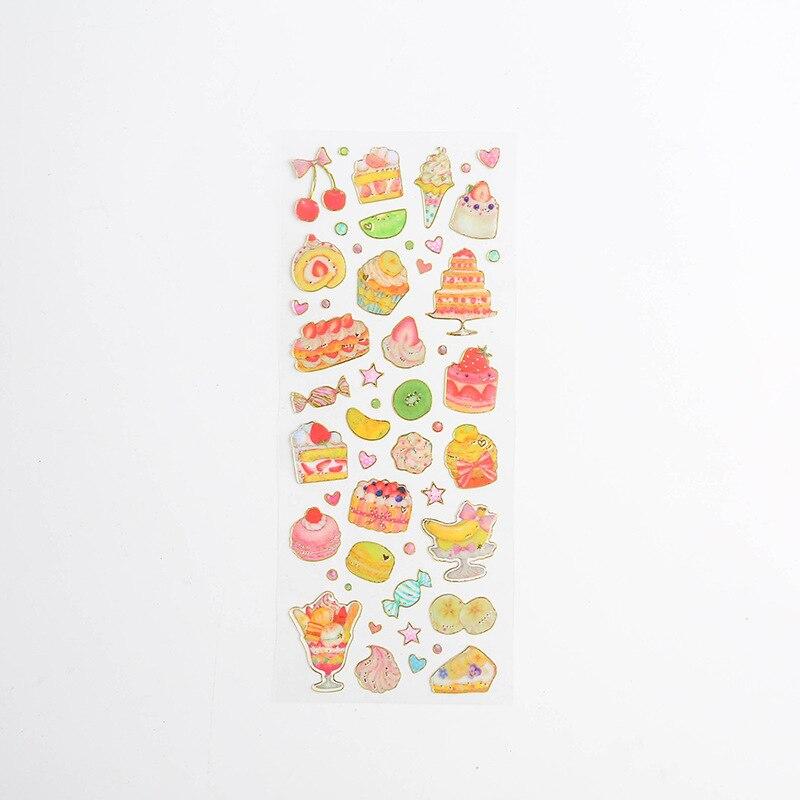 Корейские милые наклейки, штампованные прозрачные DIY дневник, ручная книга, материальное украшение, паста, детские маленькие наклейки, креативные - Цвет: 1