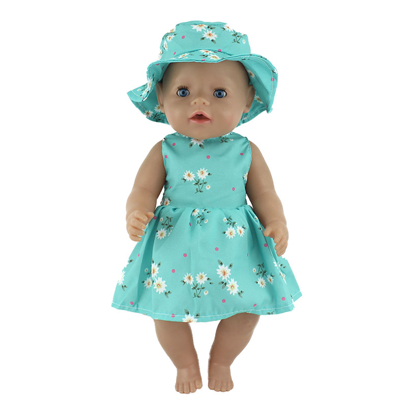 Fashion New Dress Wear For 43cm Zapf Baby Doll 17 Inch Born Babies Dolls Clothes And Accessories