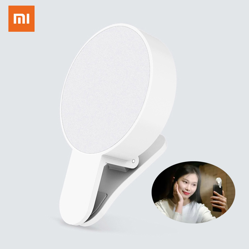 Xiaomi Original Selfie Fill Light Portable Mini Phone Led Delay Flash Flash Beauty Fill Light For Selfie Smartphone