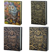 3D Carving Owl Embossed Notebook Journal Notepad Travel Diary Planner Sketchbook School Office Supplies