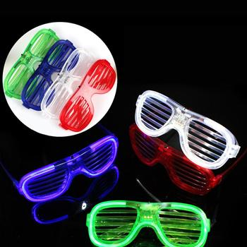 Shutter Glasses With High Quality EL wire For Indoor Parties And Halloween Party