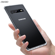 IMIDO Soft TPU Case For Samsung S10 Plus S10e Silicone for Galaxy S10+ Protective Cover Transparent