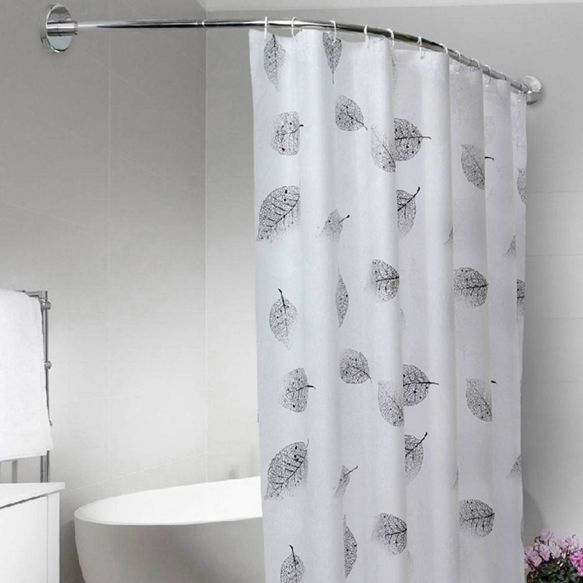 12 Pcs Bath Shower Curtain Poles Rod