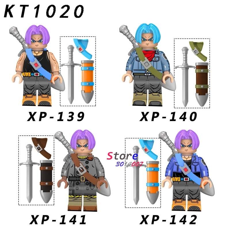 Single Building Blocks Dragon Ball Z Torankusu Cartoon Series Broli Vegeta Son Burdock Model Brick Kids Toys For Children