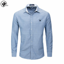 цены Little Raindrop Men Shirt 2020 Fashion  Vertical Striped Shirts For Men Long Sleeve Embroidery Tops  XXL Mens Dress Shirts