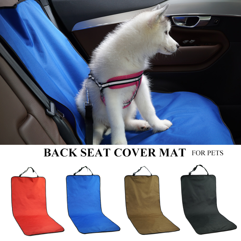 Car Waterproof Back Seat Pet Cover Protector Mat Rear Safety Travel Accessories for Cat Dog Pet Carrier Car Rear Back Seat Mat 1
