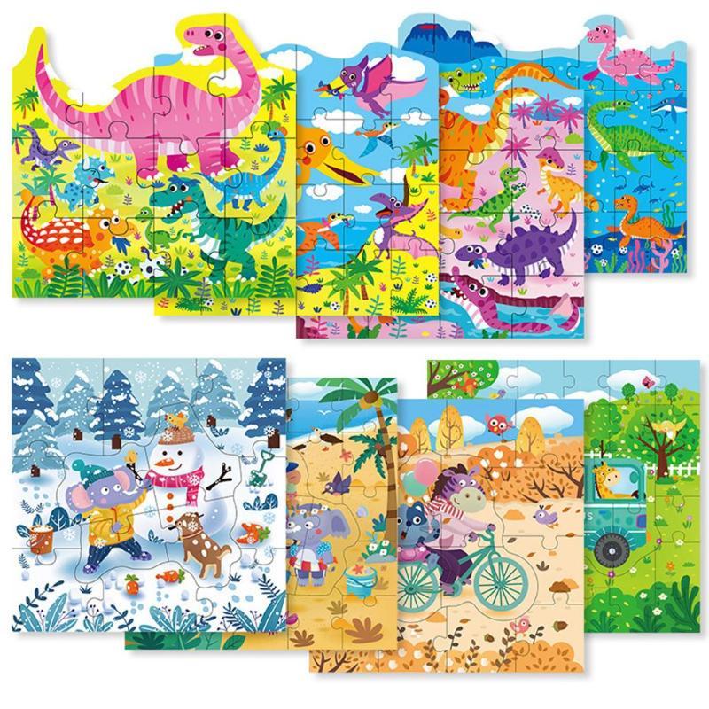 Деревянные детские игрушки Монтессори, Обучающие Мультяшные головоломки для детей, подарки, развивающие интеллект, ручные возможности
