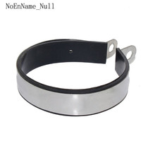 Universal Motorcycle Exhaust Pipe Muffler Escape Project Carbon Fiber Holder Clamp Fixed Ring Support Bracket