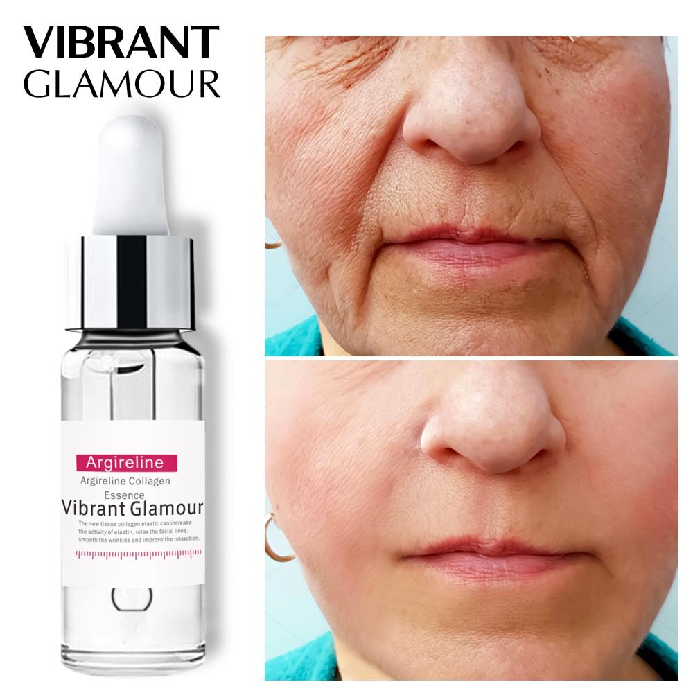 VIBRANT GLAMOUR Argireline Collagen Peptides Face Serum Essence Anti-Aging Wrinkle Lift Firming Moisturizer Whitening Skin Care