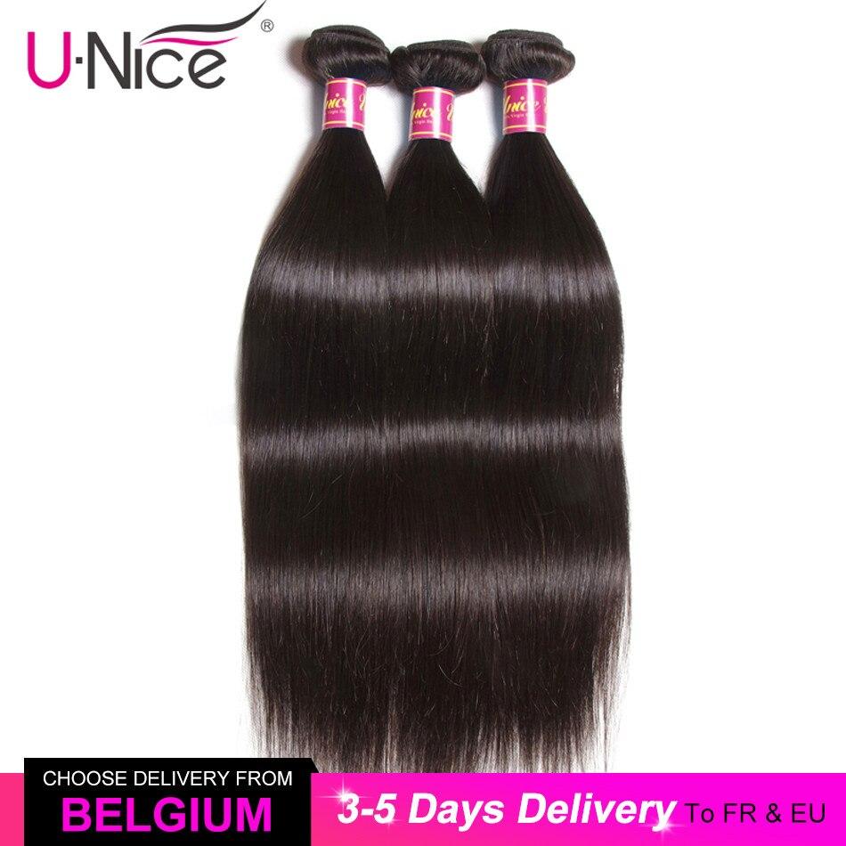 Волосы UNICE 30 дюймов бразильские костяные прямые волосы пряди 100% натуральные кудрявые пучки волос пряди прямые натуральные волосы для наращ...