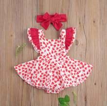 Детские комбинезоны для маленьких девочек с оборками и рукавами