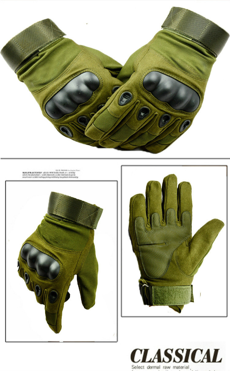 Army Military Tactical Gloves Men Winter Full Finger Hard Knuckle Gloves Paintball Airsoft Shoot Combat Anti-Skid Bicycle Gloves 6