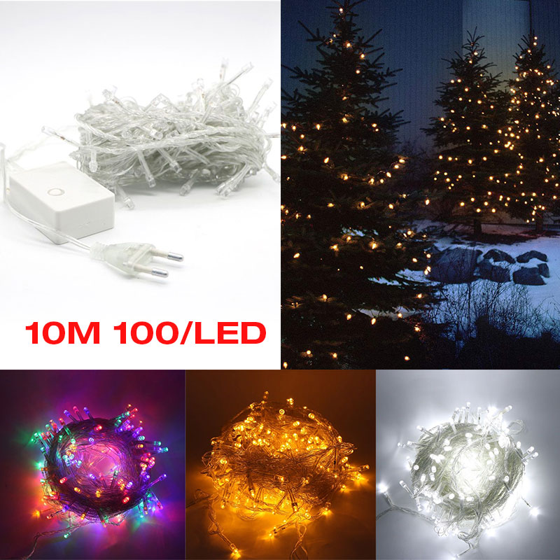 Led Rope Light String Party Supply Wedding IP44 10M Romantic Fairy Lights Decoration Holiday Lighting 100LED Waterproof