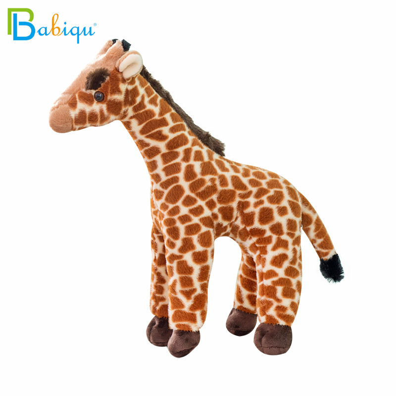 35/45/55cm Cute Lifelike Giraffe Plush Toy Cute Stuffed Animal Doll Soft Giraffe Toys for Children Kids Birthday Gift Room Decor